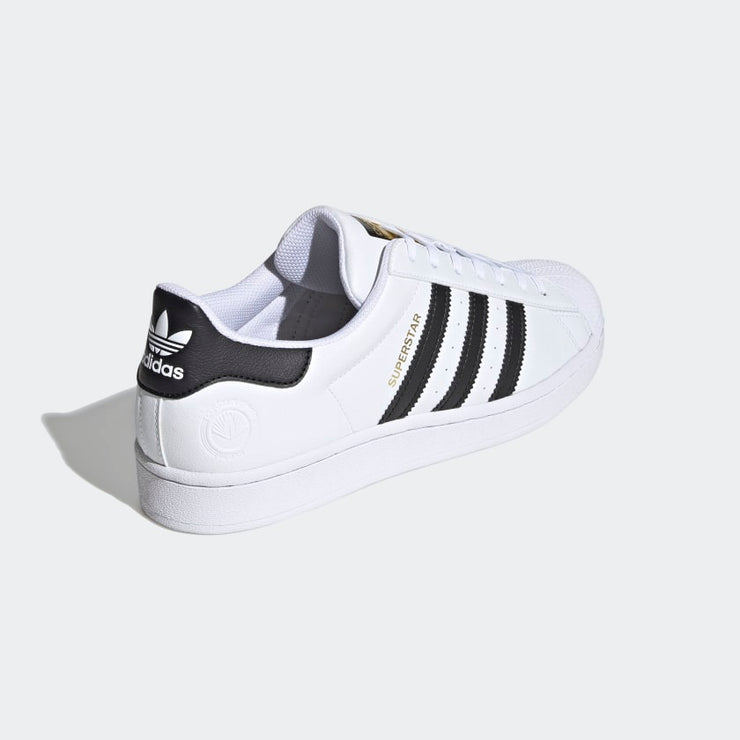 adidas- superstar vegan - back side view