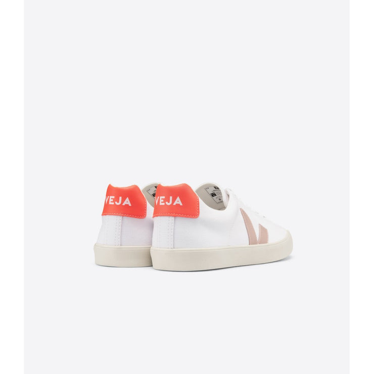 VEJA sneakers_esplar canvas orange vegan_back view