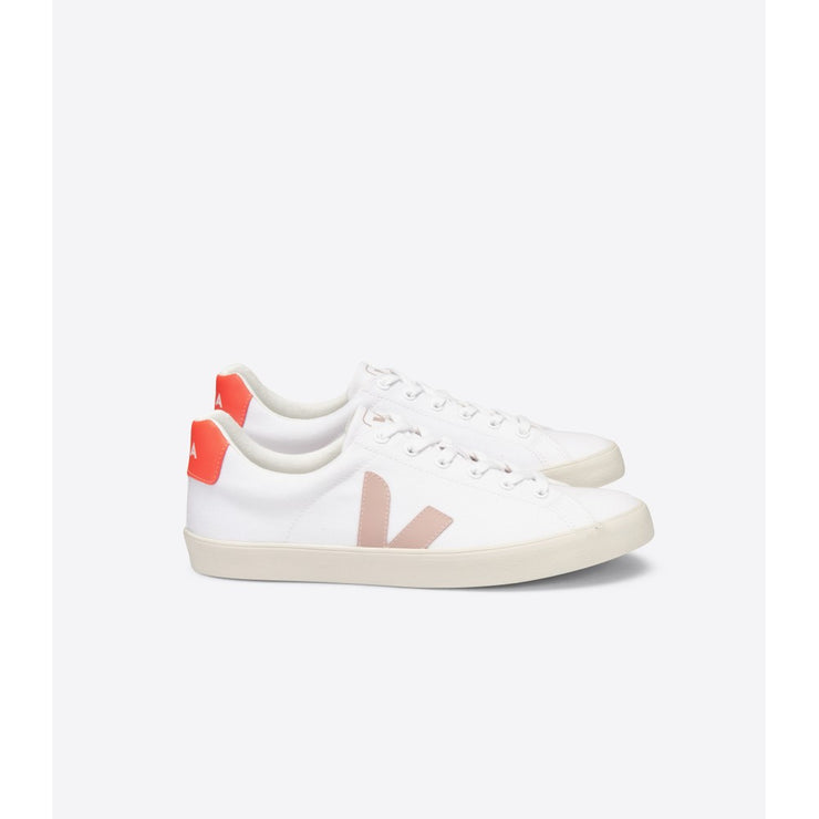 VEJA sneakers_esplar canvas orange vegan_side view