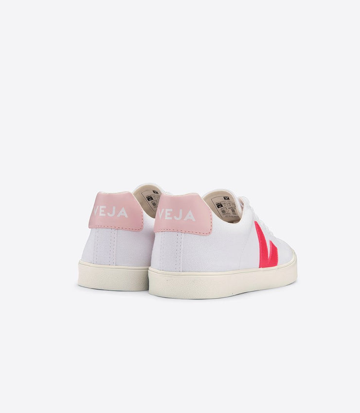 VEJA sneakers_esplar canvas petale rose vegan _back view
