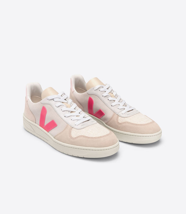 VEJA sneakers_V10 suede natural rose_front view
