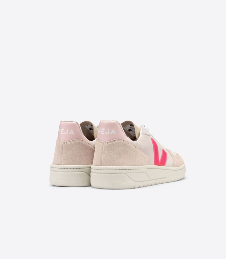 VEJA sneakers_V10 suede natural rose_back view