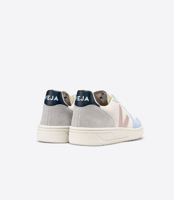 VEJA sneakers_V10 suede multico_back view