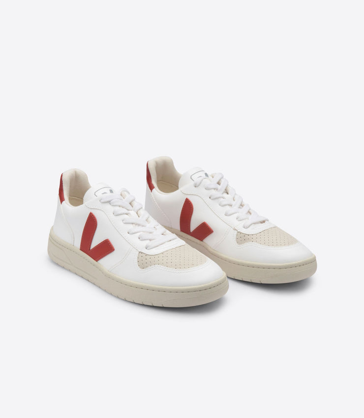 VEJA sneakers_V-10 CWL VEGAN white rouille men_front view