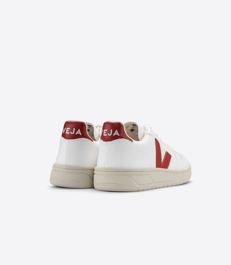 VEJA sneakers_V-10 CWL VEGAN white rouille women_ back view