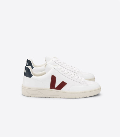 VEJA sneakers_V12 leather marsala_side view