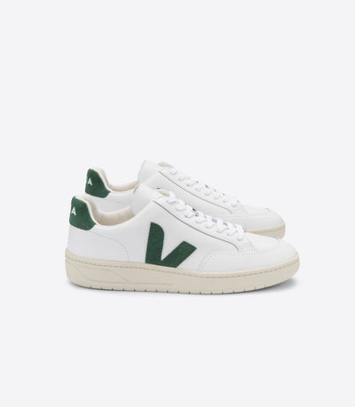 VEJA sneakers_V-12 leather extra white cyprus men_side view