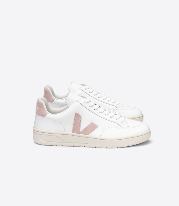 VEJA sneakers_V12 leather babe pale rose_ side view