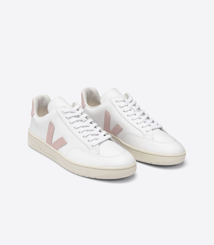 VEJA sneakers_V12 leather babe pale rose_front view