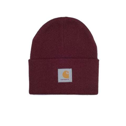 ACRYLIC WATCH HAT BORDEAUX