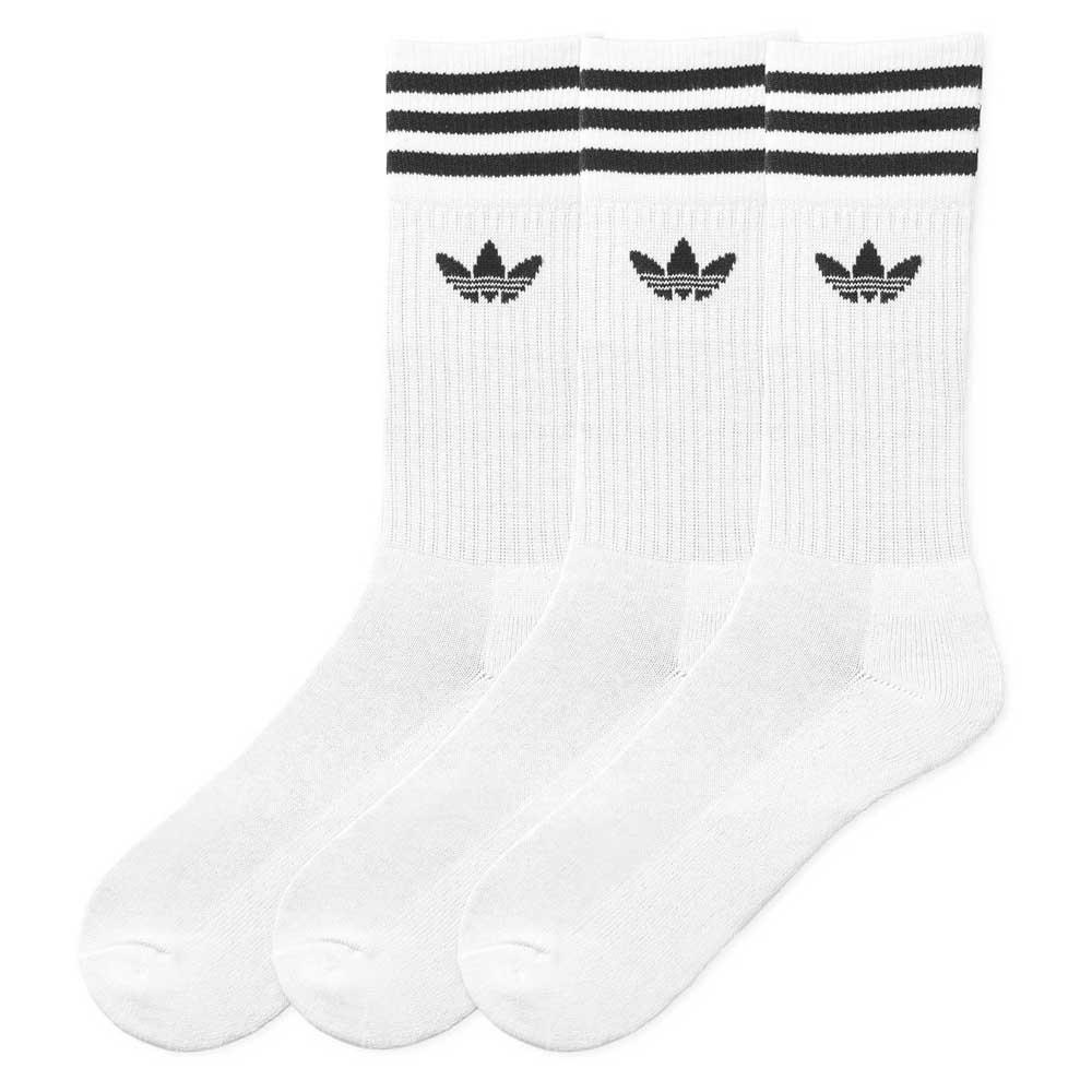 3x PACK SOLID CREW SOCKS