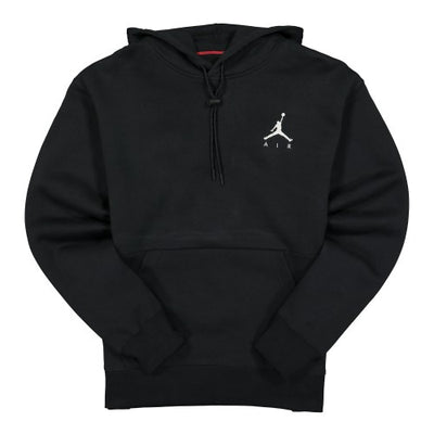nike jordan - jumpman air fleece hood - black hoodies - front view