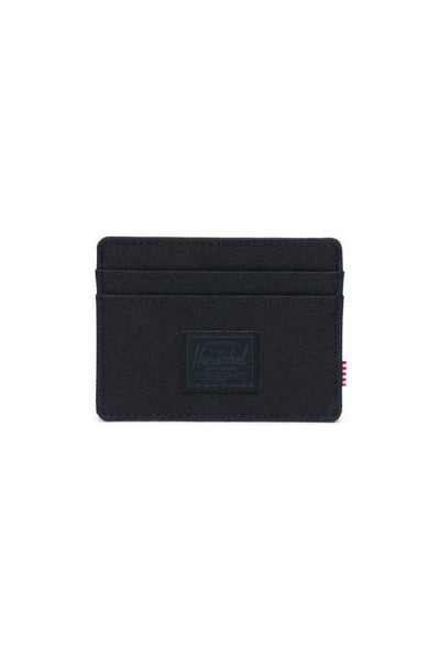 herschel-charlie rfid all black wallet