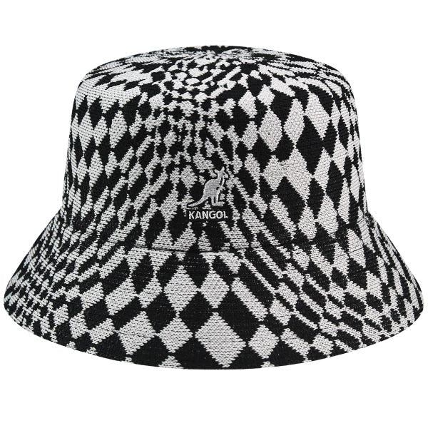 kangol- warped check bucket