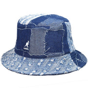 kangol - denim mashup bucket