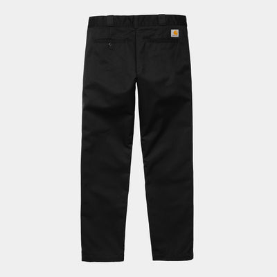 carhartt wip_master pant black cotton_front view