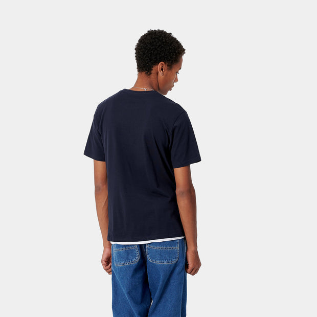 carhartt wip_pocket tee navy_back view