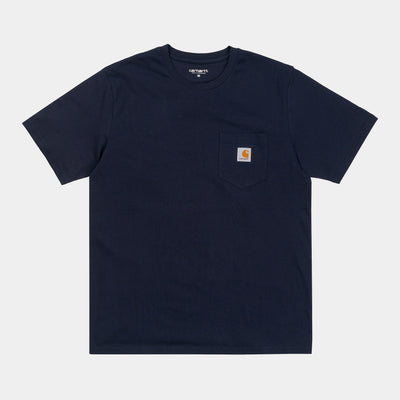 carhartt wip_pocket tee navy_front view2