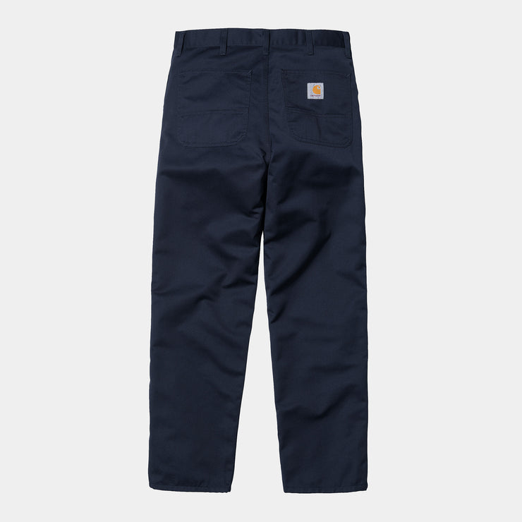 carhartt wip_simple pant navy_back view