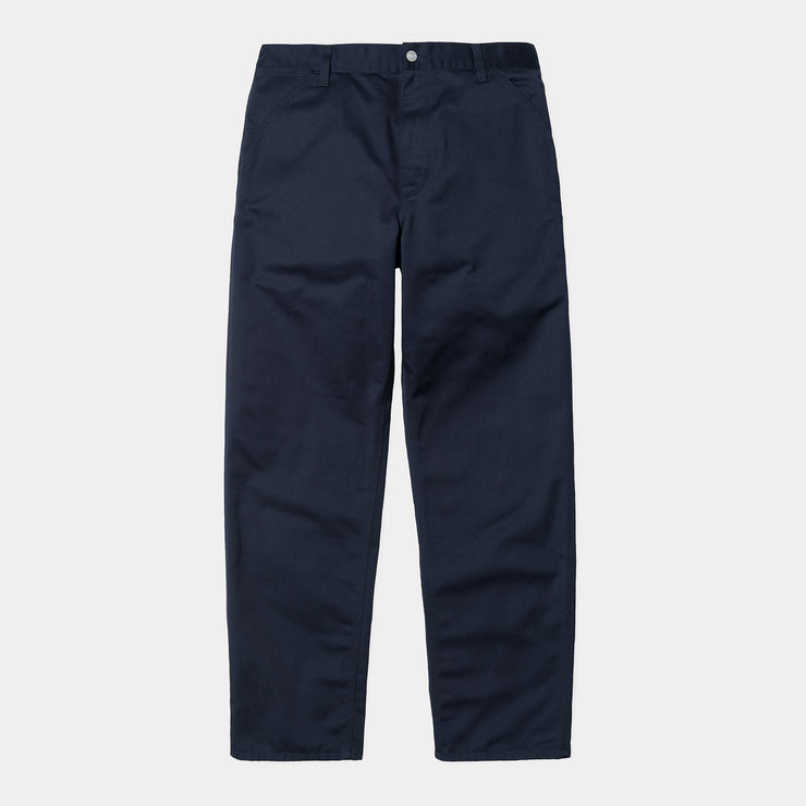 carhartt wip_simple pant navy_front view
