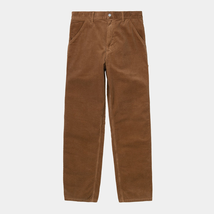carhartt wip_ single knee pant hamilton brown-front view