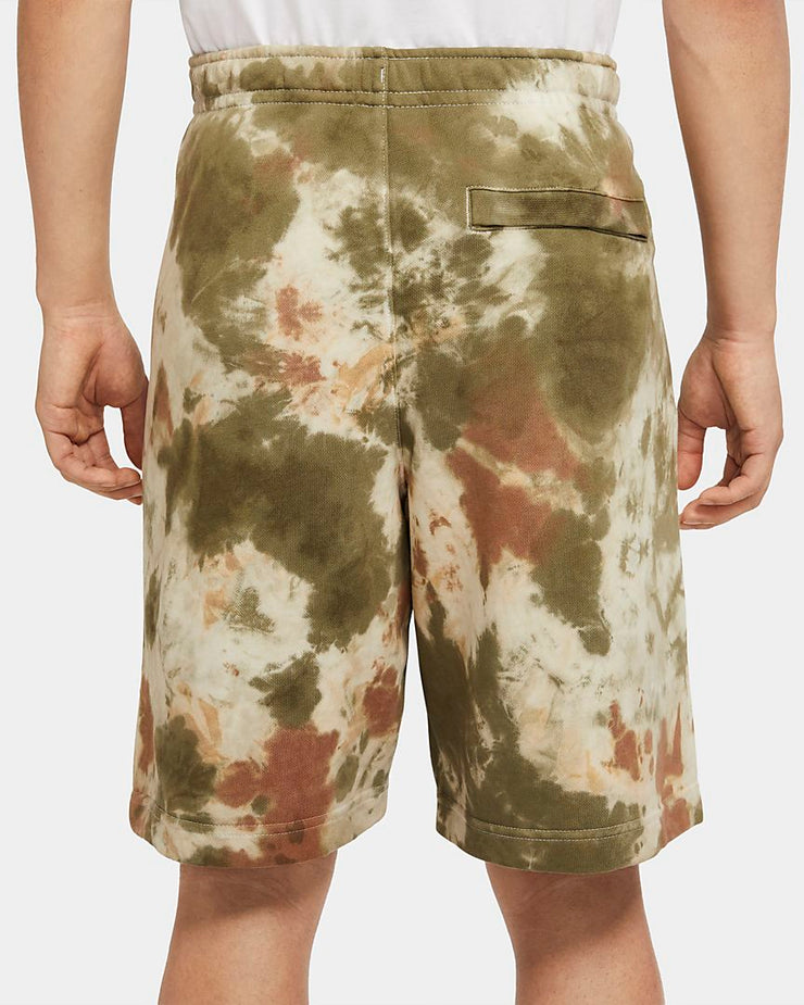 FRENCH TERRY DYE SHORTS KHAKI