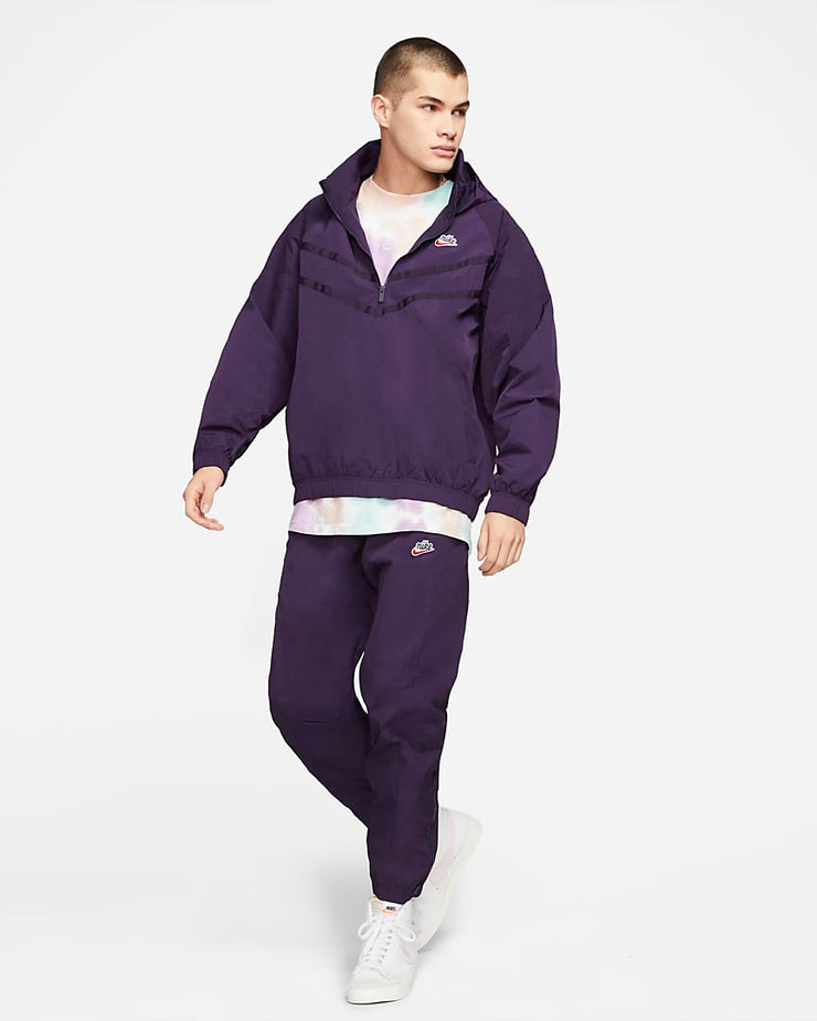 nike_heritage wind runner jacket_purple_ complete front view