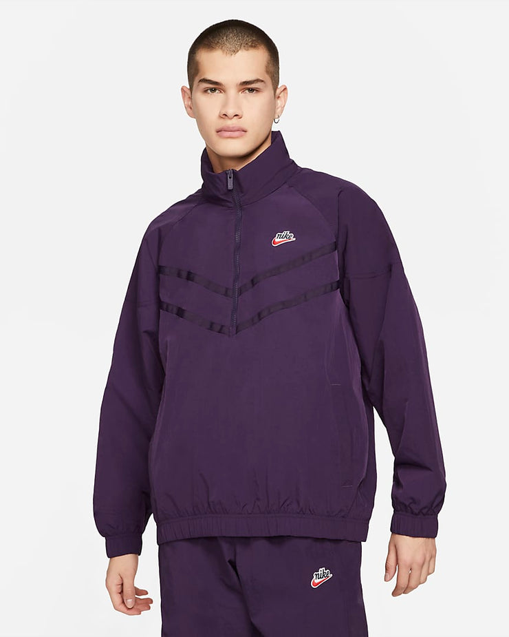nike_heritage wind runner jacket_purple_front view