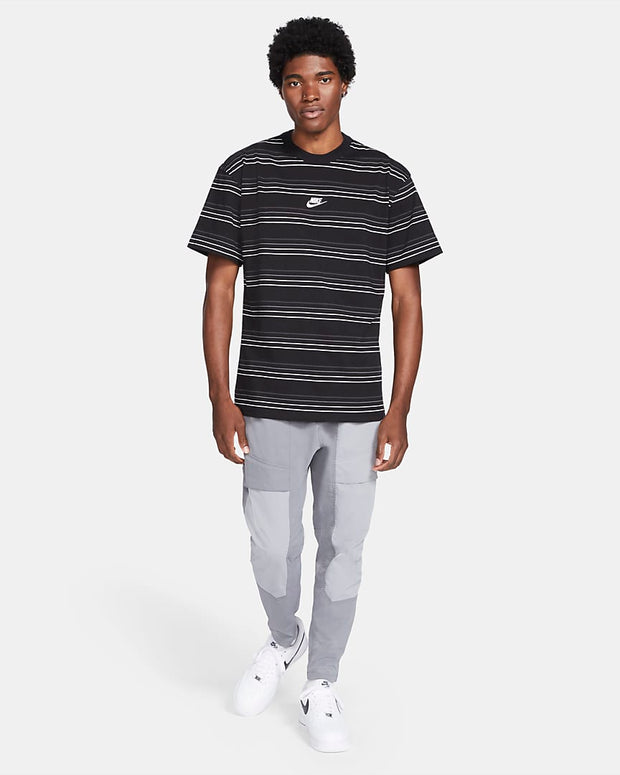 STRIPED LOGO TEE