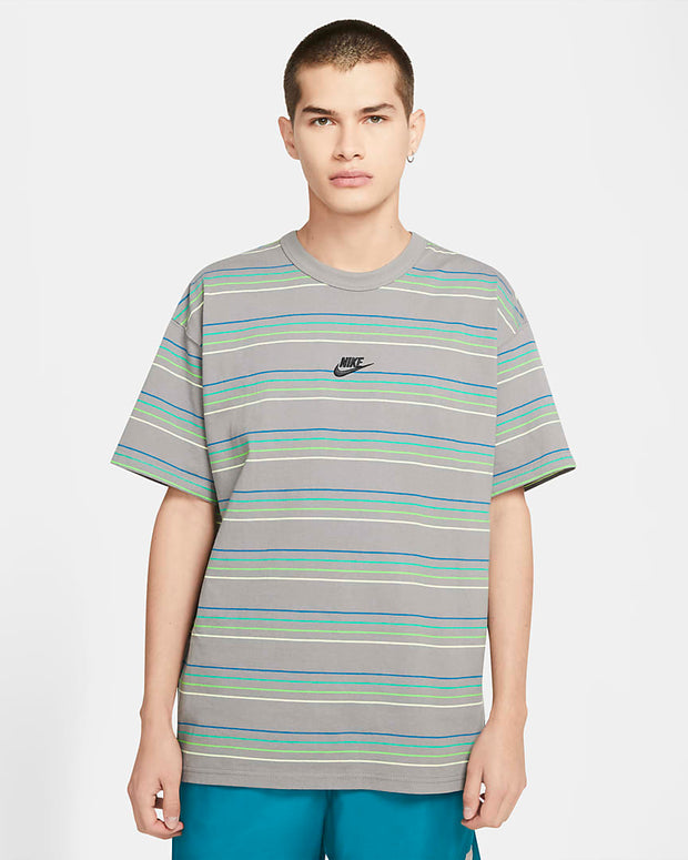 STRIPED LOGO TEE MULTI