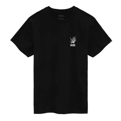 vans - reality coral tee black - front view