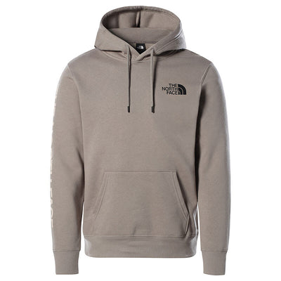 The North Face_warped graphic hoodie mineral grey_front-view