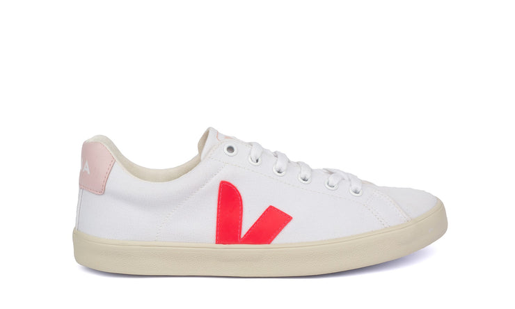 VEJA sneakers_esplar canvas petale rose vegan_side view