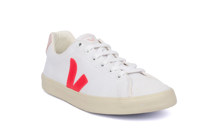 VEJA sneakers_esplar canvas petale rose vegan_front view