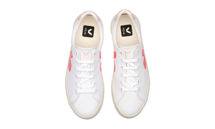 VEJA sneakers_esplar canvas petale rose vegan_top view