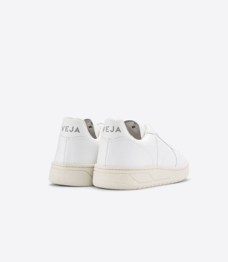 VEJA sneakers_V-10 LEATHER extra white women_back view