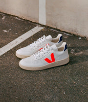 VEJA sneakers_V10 leather orange