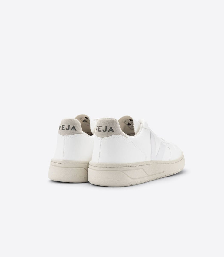 VEJA sneakers_V-10 CWL VEGAN white women_back view