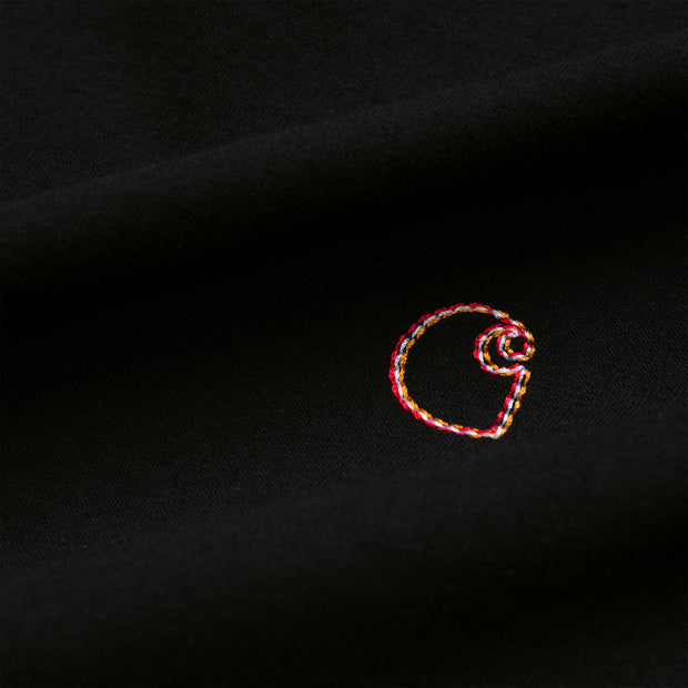 carhartt wip_commission logo tee women black_logo view