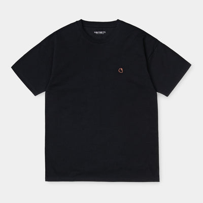 carhartt wip_commission logo tee women black_front view