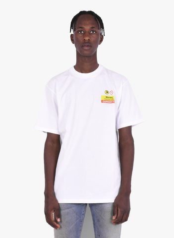 WARNING TEE WHITE