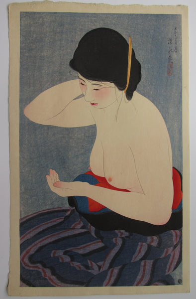 "Ito Shinsui ""Applying Powder"""