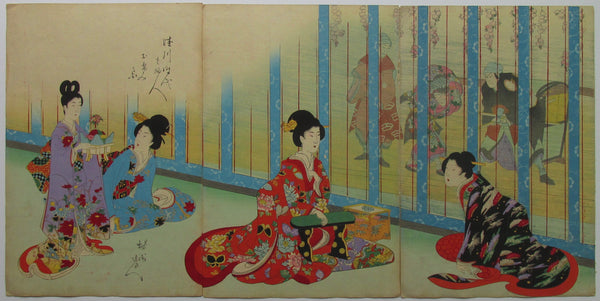 Chikanobu - Women's Activities of the Tokugawa Era: Theater Performance