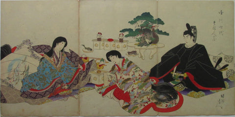 Chikanobu - Women's Activities of the Tokugawa Era: Serving