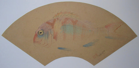 Bakufu Ohno - Red Seabream original watercolor painting