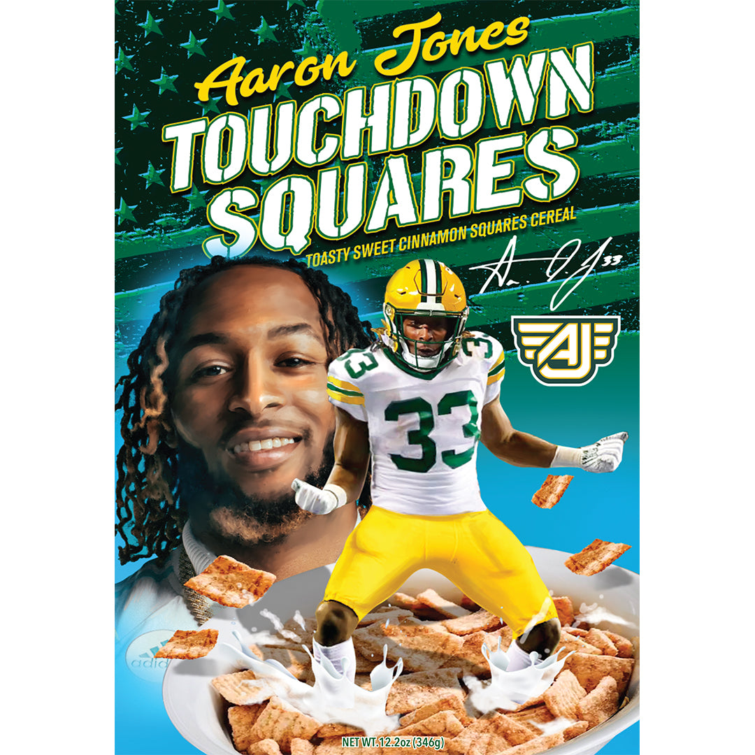 Aaron Jones Touchdown Squares 2 Pack Plb Sports And Entertainment