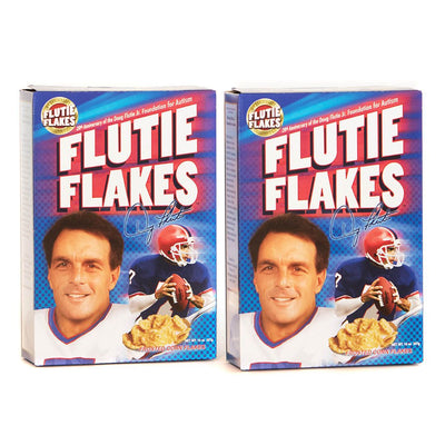 Frosted corn flake breakfast cereal featuring NFL legend Doug Flutie. Sold in a 2-pack.