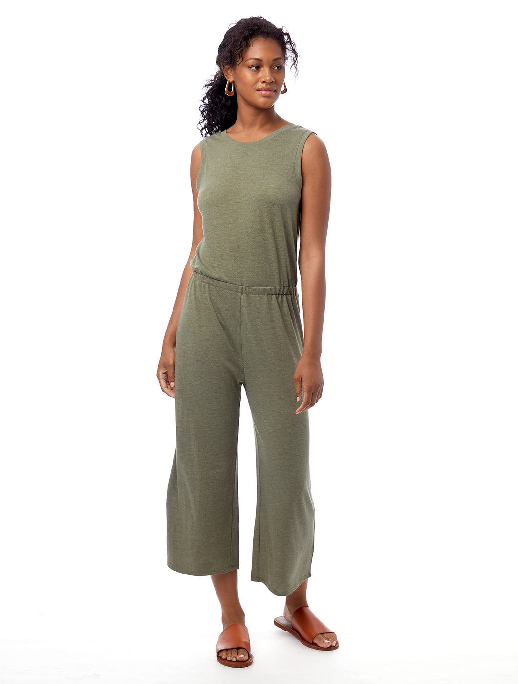 Alternative Sleepless Cropped Jump Suit Army Green