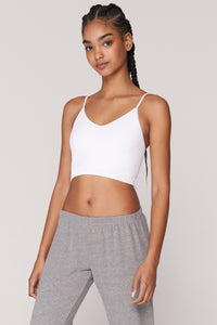 SG Row Cropped Tank White