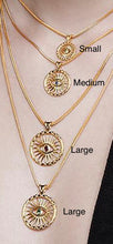 Load image into Gallery viewer, Karak Vergina Sun Necklace MED